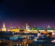Beautiful night view of illuminated Moscow. Beautiful night view of the illuminated Red Square, Moscow Royalty Free Stock Images