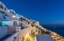 Beautiful night view of Imerovigli village Stock Image