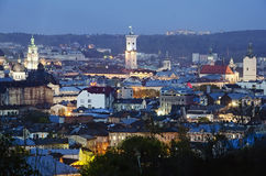 Beautiful night view of Lvov Royalty Free Stock Images