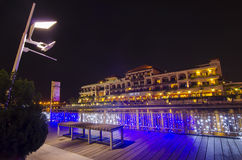 Beautiful night view at Malacca Royalty Free Stock Photography