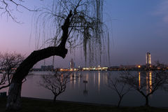 Beautiful night view of nanjing Stock Photo