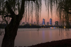 Beautiful night view of nanjing Royalty Free Stock Images
