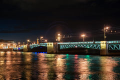 Beautiful night view of Saint-Petersburg, Russia Royalty Free Stock Photos