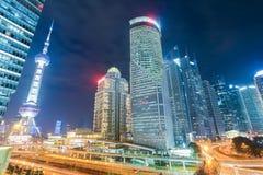Beautiful night view in shanghai Stock Photos