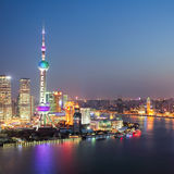 The beautiful night view in shanghai Royalty Free Stock Images