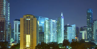 Beautiful night view of skyscraper in Kuala Lumpur Royalty Free Stock Photography