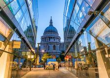 Beautiful night view of St Paul Cathedral, London Stock Image