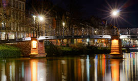 Beautiful night view of Strasbourg, France Royalty Free Stock Photo