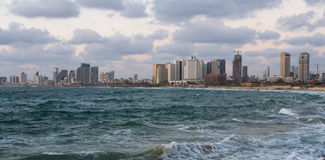 Beautiful night view of Tel-Aviv Royalty Free Stock Photos