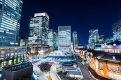 Beautiful night view of Tokyo Station, Japan Stock Photos