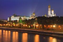 Beautiful night views of Moscow Kremlin. Stock Images
