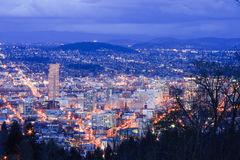 Beautiful Night Vista of Portland, Oregon Stock Image