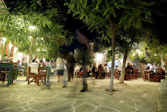 Nightlife in Folegandros, Greece Royalty Free Stock Photo