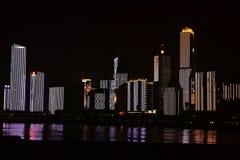 Nightscape of Nanchang. Beautiful Nightscape of Nanchang located in Nanchang city .Jiangxi, China royalty free stock image