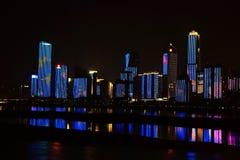Nightscape of Nanchang. Beautiful Nightscape of Nanchang located in Nanchang city .Jiangxi, China stock images