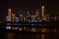 Nightscape of Nanchang. Beautiful Nightscape of Nanchang located in Nanchang city .Jiangxi, China stock photo