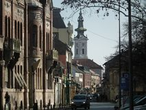 Beautiful Nikola Pašić Street in Novi Sad. Street    sad srbija vojvodina serbia architecture novisad stock photography