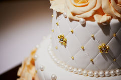 Beautiful and noble wedding cake Stock Photos