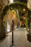 City of Como during the night Royalty Free Stock Photo