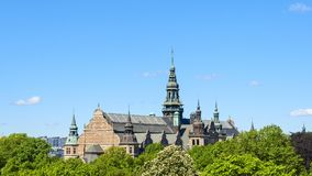 Nordic museum in the city of stockholm. Beautiful nordic museum in the city of stockholm Royalty Free Stock Images