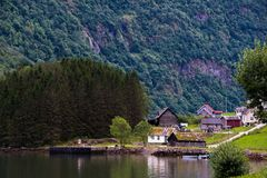 The Beautiful Norway landscape at summer Royalty Free Stock Photos