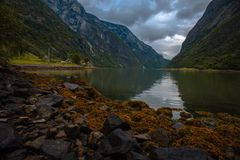 The Beautiful Norway landscape at summer Royalty Free Stock Photo
