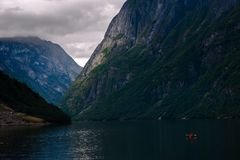 The Beautiful Norway landscape at summer Stock Photo
