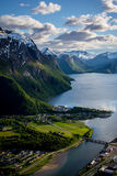 Beautiful Norway. A beautiful Norwegian landscape in a spring day Stock Image