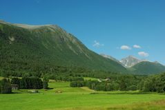 Beautiful Norway Rural Mountain Landscape Stock Images