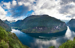 Beautiful Norwegian fjord Royalty Free Stock Photography