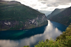 Beautiful norwegian fjord Stock Photography