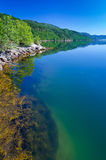 Beautiful Norwegian fjord coast in summer season Royalty Free Stock Photography