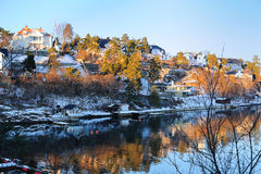 Beautiful Norwegian landscape Royalty Free Stock Images