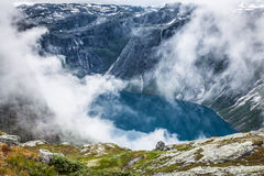 Beautiful norwegian landscape with mountains on the the way to t Stock Photo