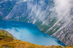 Beautiful norwegian landscape with mountains on the the way to t Stock Photography