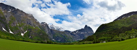 Beautiful Norwegian landscape Royalty Free Stock Images