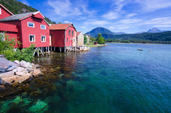 Beautiful Norwegian landscape in summer season Royalty Free Stock Photo