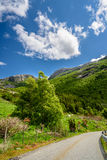 Beautiful Norwegian valley panorama by the coast of Lysefjord, Norway Royalty Free Stock Photography