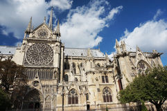 Beautiful Notre Dame Cathedral ln Paris Stock Photo