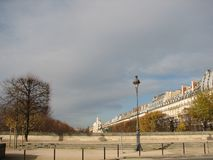 The beautiful November day in the Tuileries Garden, Paris royalty free stock image
