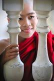 Beautiful novice monk in myanmar,(burma) stock images