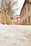 Beautiful Novy Svet Street in Prague Royalty Free Stock Photography