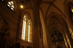 Arched ceiling of the cathedral royalty free stock image