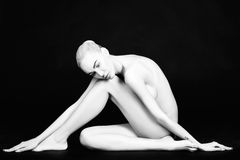 Beautiful nude blonde woman Royalty Free Stock Photography