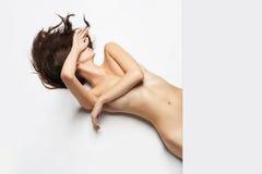 Beautiful nude body girl Royalty Free Stock Photography