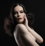 Beautiful nude woman with make up Royalty Free Stock Photography