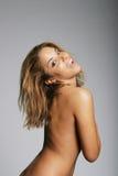 Beautiful nude woman smiling Royalty Free Stock Photos
