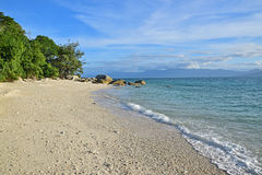 Beautiful Nudey Beach with spectacular stretch of pristine white coral sand on Fitzroy Island Royalty Free Stock Photos
