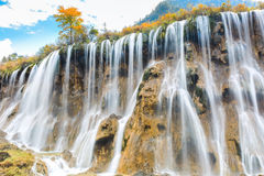 Beautiful nuorilang waterfall in autumn Royalty Free Stock Photography