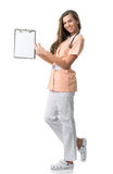 Beautiful nurse holding a folder Stock Photography